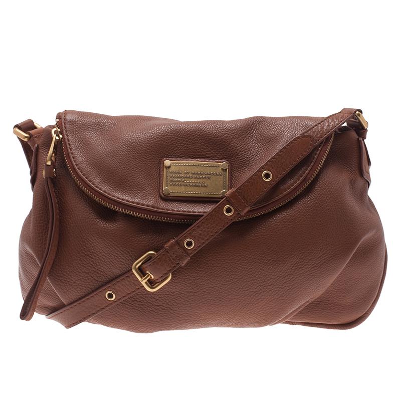 Marc by Marc Jacobs Brown Leather Classic Q Natasha Crossbody Bag