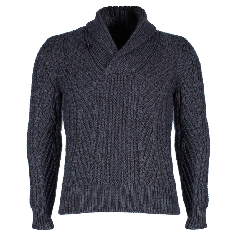 Tom Ford Men's Grey Wool Pullover S