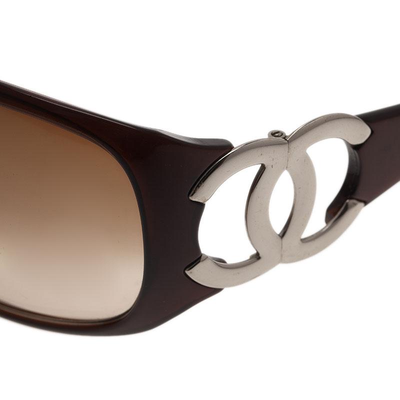 Chanel Brown CC Logo Sunglasses