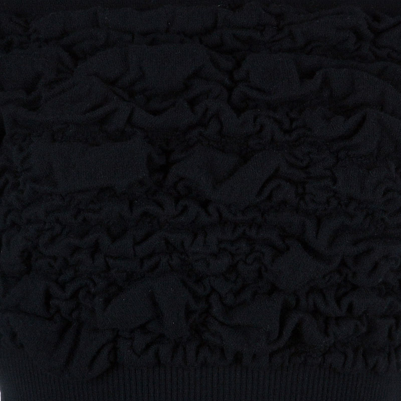 Chanel Black Wool Turtleneck Top M