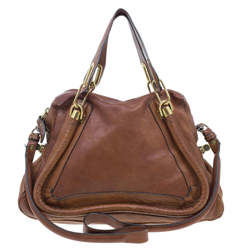 Chloe Brown Leather Medium Paraty Handbag