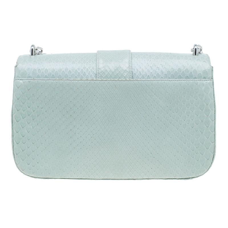 Dior Mint Green Python Miss Dior Medium Flap Bag