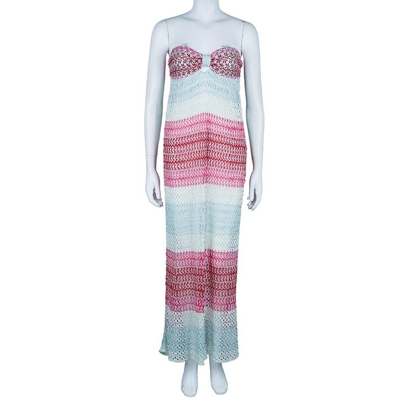 Missoni Mare Strapless Knit Maxi Dress M