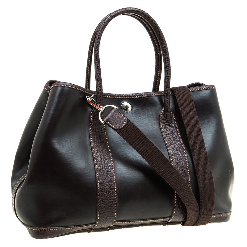replico hermes - Hermes Brown Amazonia/Buffalo Leather Garden Party TPM Tote - Buy ...