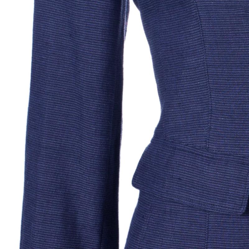 Burberry Blue Novacheck Lining Blazer S