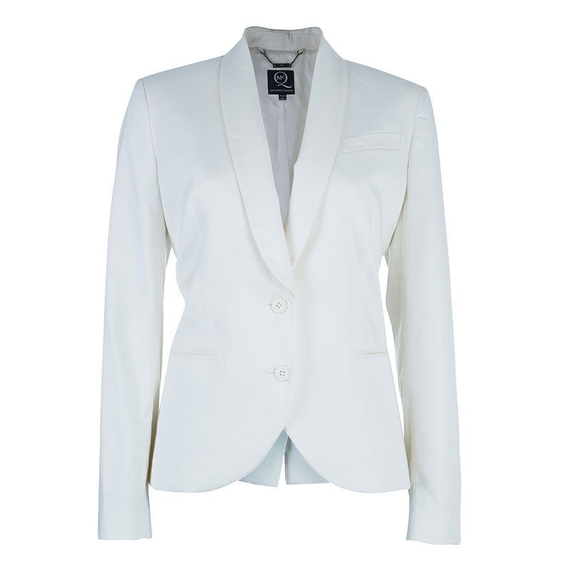 McQ By Alexander McQueen White Tailored Blazer M