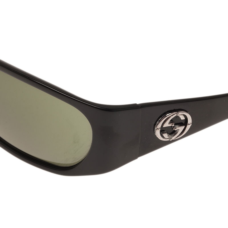Gucci Black GG Logo Rectangle Frame Sunglasses