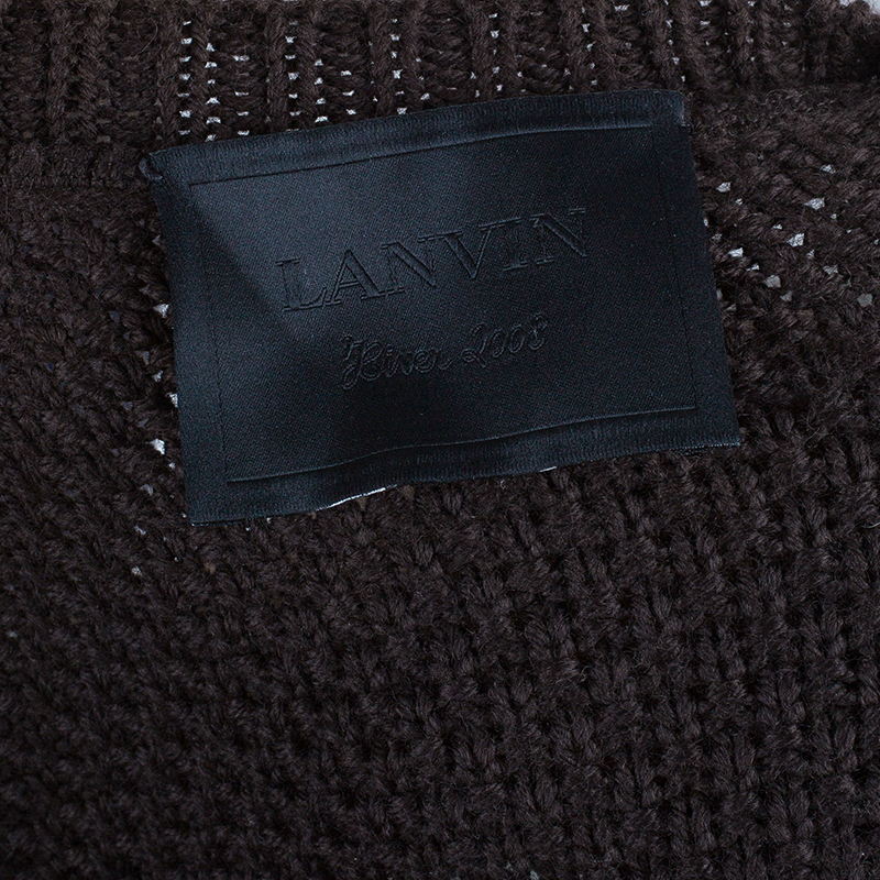 Lanvin Brown Wool Cardigan M