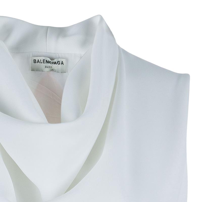 Balenciaga Pastel Colorblock Sleeveless Top S