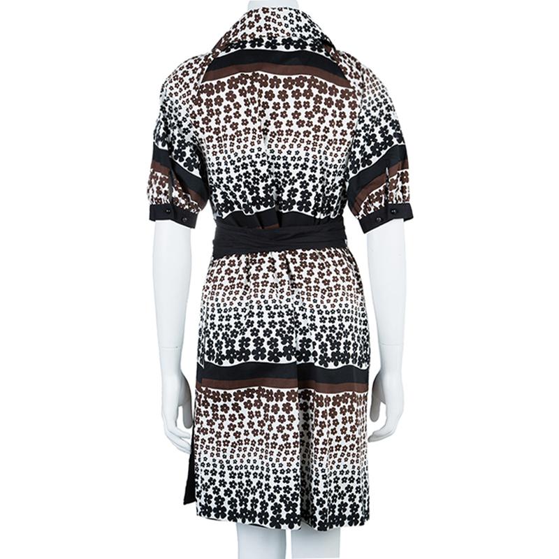 Kenzo Printed Wrap Midi Dress S