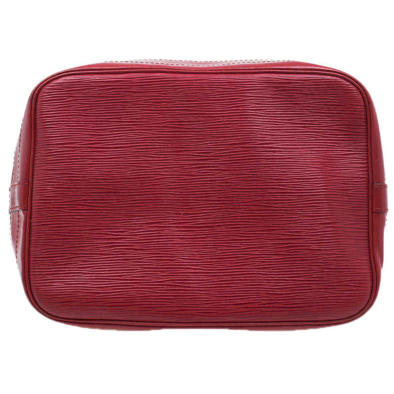 Louis Vuitton Rouge Castilian Epi Leather Petit Noe Bag