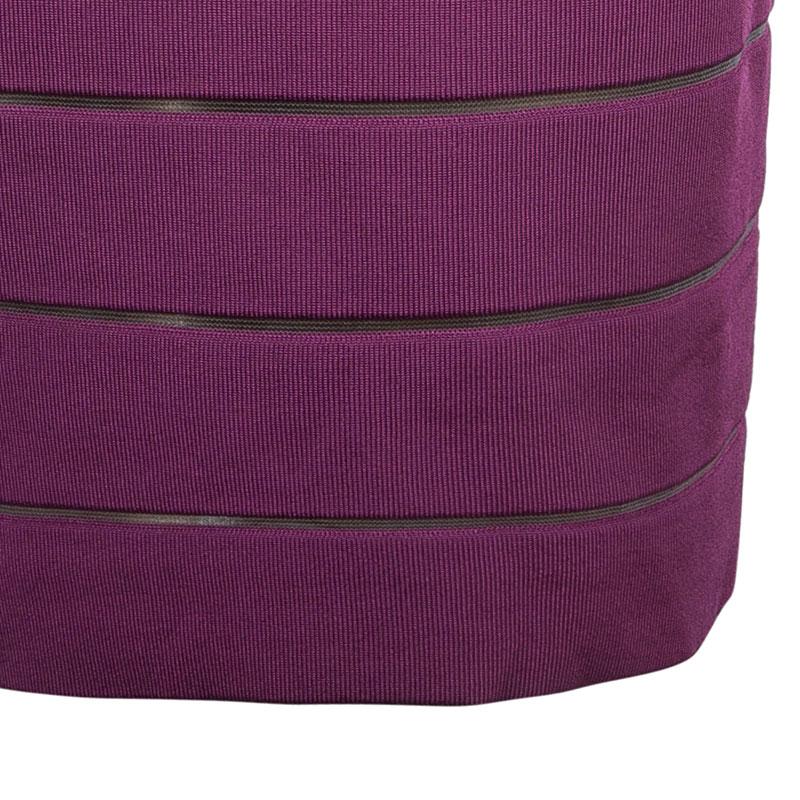 Herve Leger Tricolor Bandage Dress And Cardigan Set L