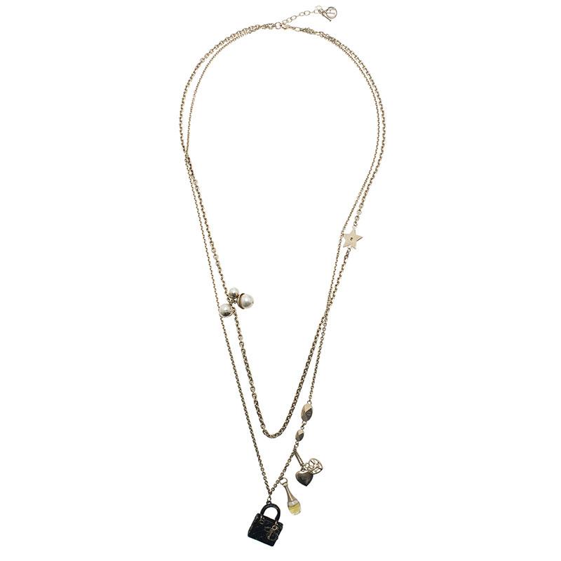 Dior Mise En Dior Charms Long Necklace