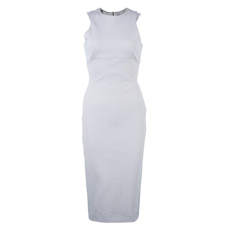 Victoria Beckham Beige Shift Dress M