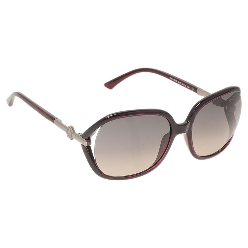 Roberto Cavalli Purple Edera Square Sunglasses
