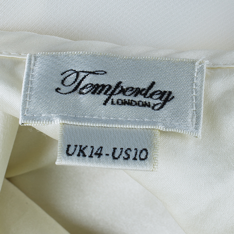 Temperley London White Cutout Top L