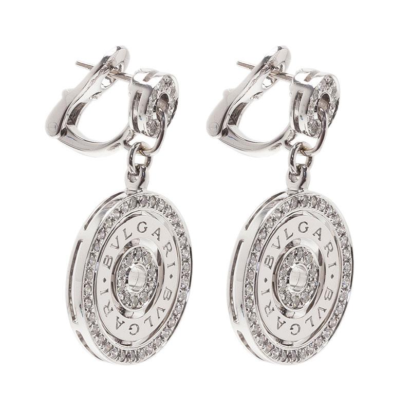Bvlgari Cerchi Astrale Diamond White Gold Earrings
