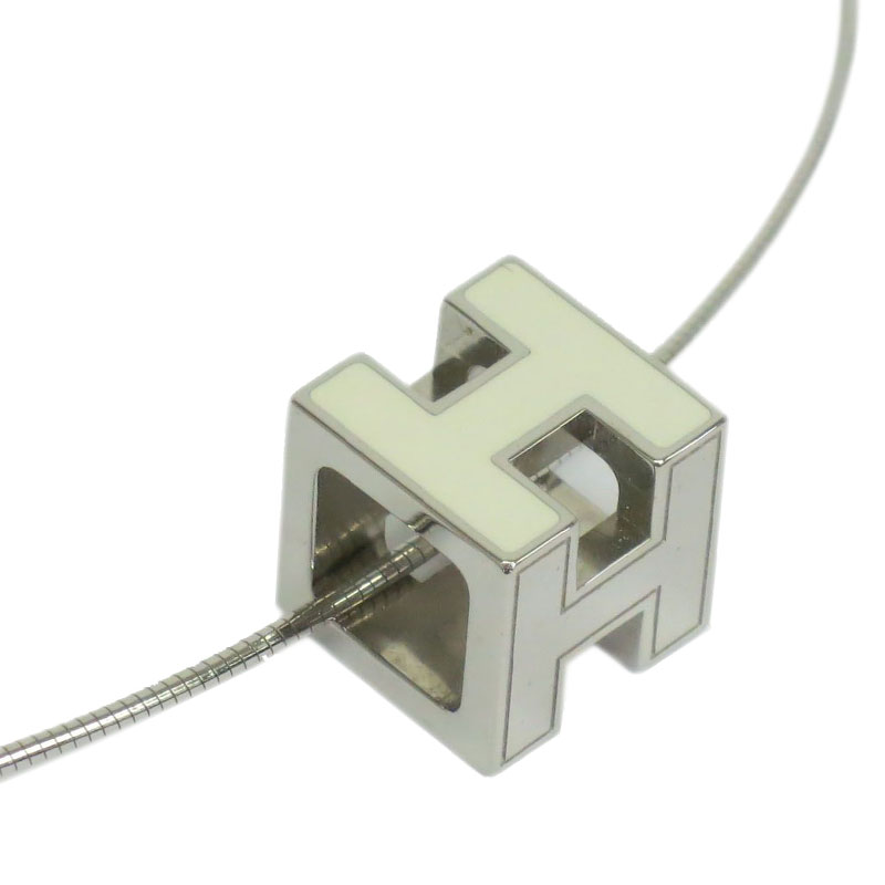 Hermes Cage White Necklace