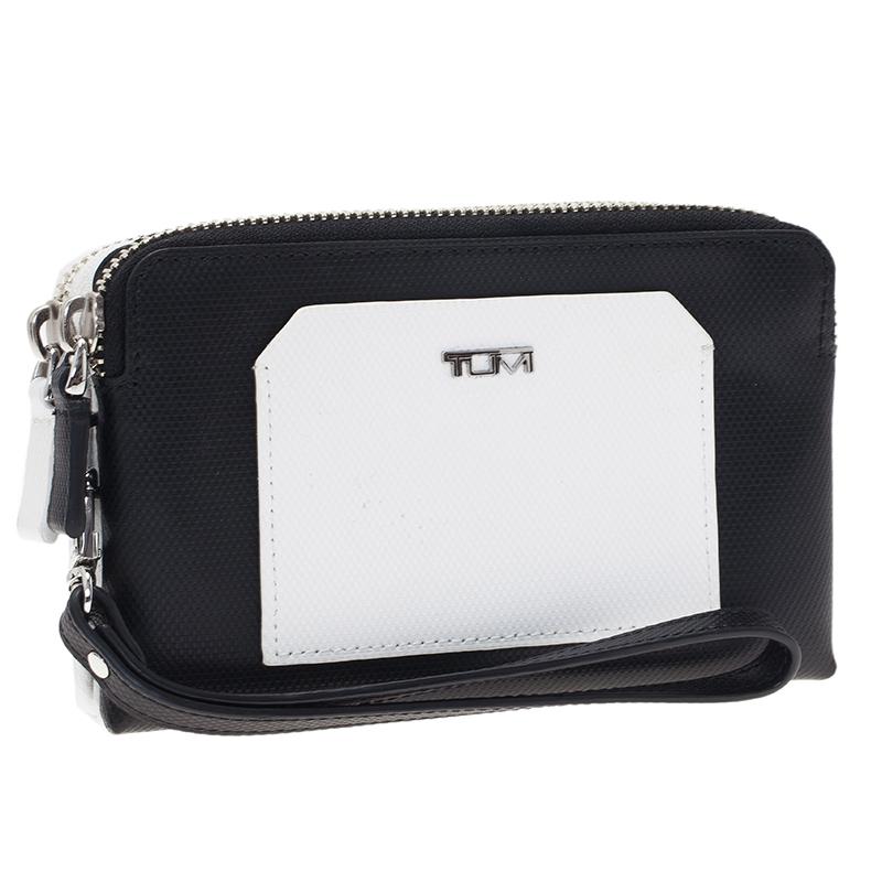 Tumi Two Tone Double Zip iPhone Wristlet Case
