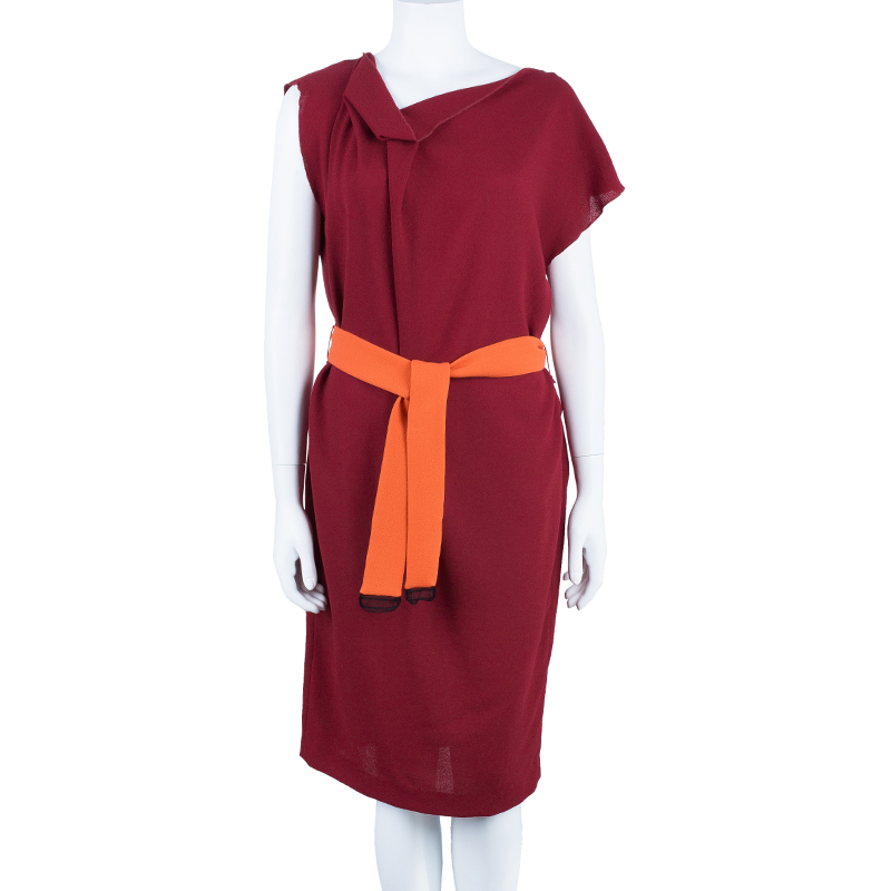 Roksanda Ilincic Red Belted Shift Dress M