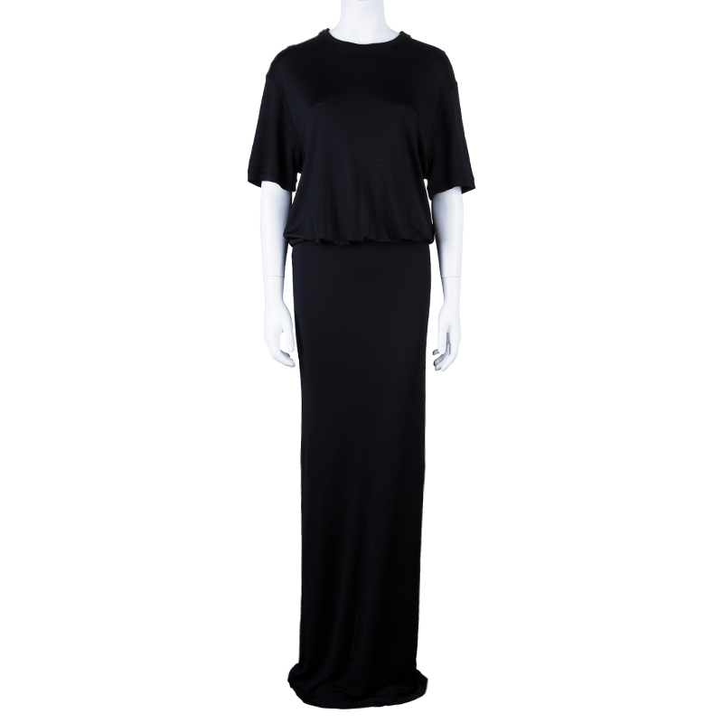 Givenchy Black Gathered Maxi Dress M