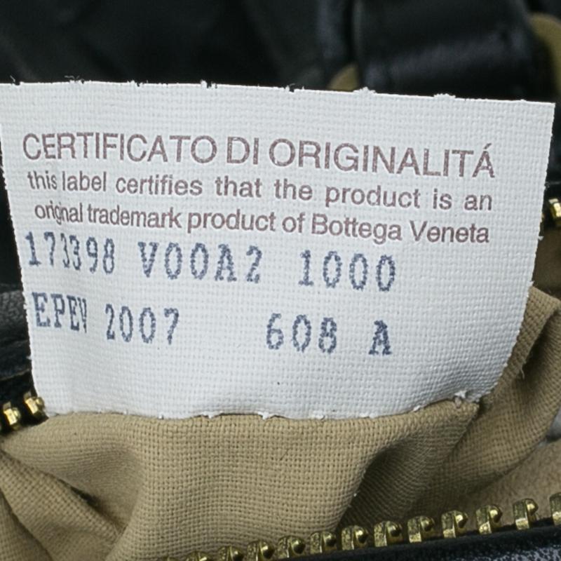 Bottega Veneta Black Intrecciato Leather Montaigne Satchel Bag