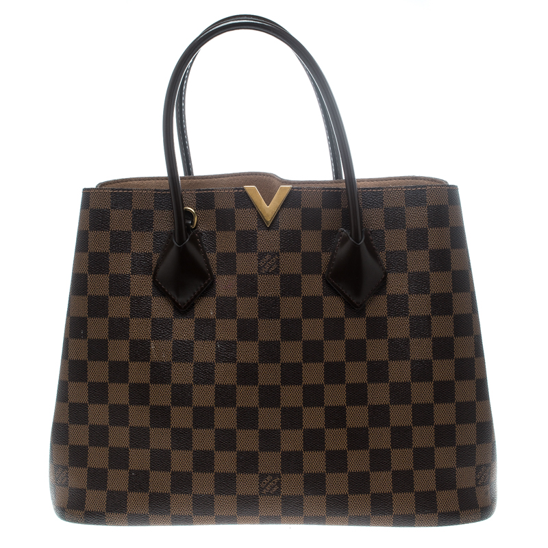 96968d14e015 Louis Vuitton Kensington Damier Ebene Canvas Handbags - Handbag ...