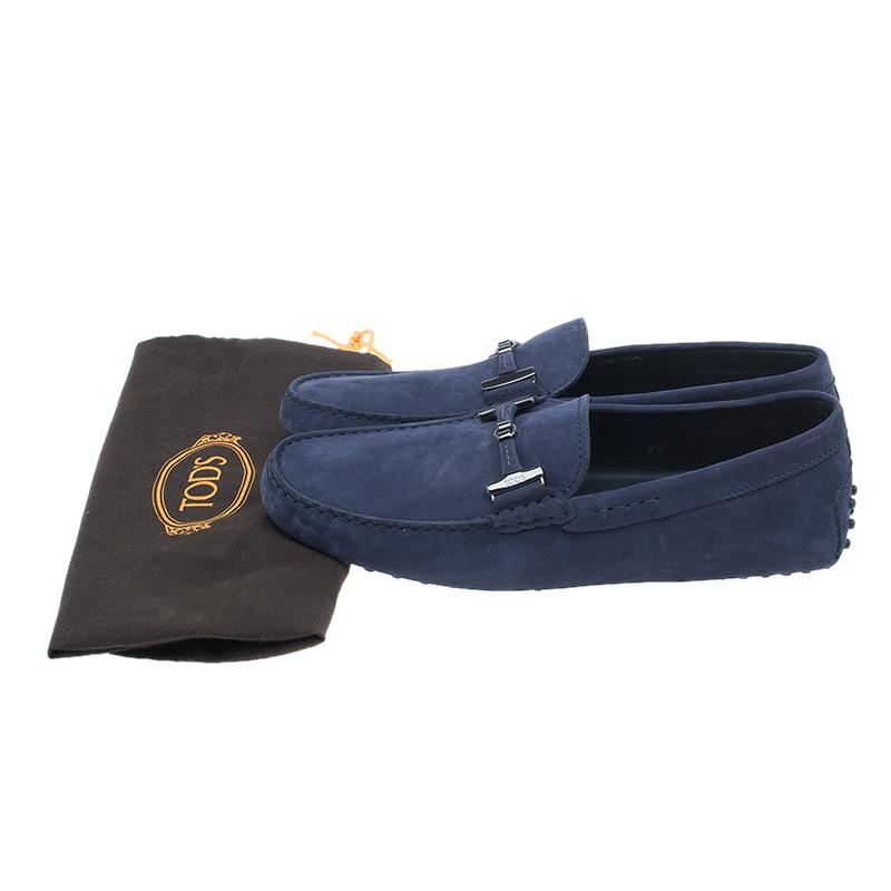 Tod's Purple Suede Horsebit Buckle Loafers Size 41.5