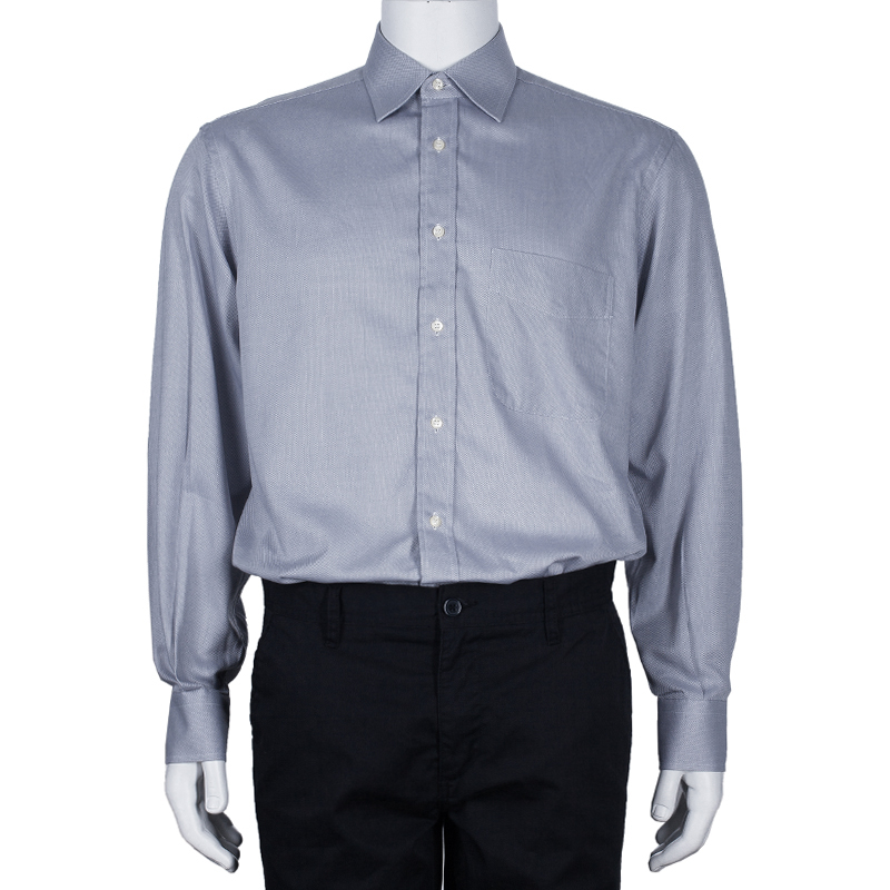 Fendi Men's Pale Grey Cotton Shirt M