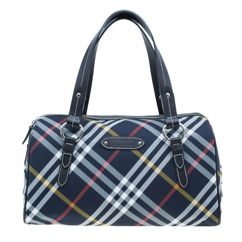 Burberry Blue Label Navy Nova Check Boston Bag Nextprev Prevnext