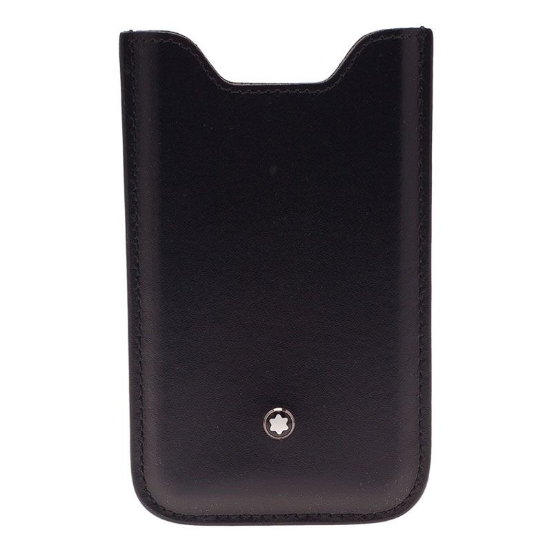 Montblanc Black Soft Leather Meisterstuck iPhone 4/4S Case