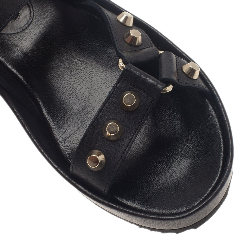 Balenciaga Black Studded Sandals Size 37