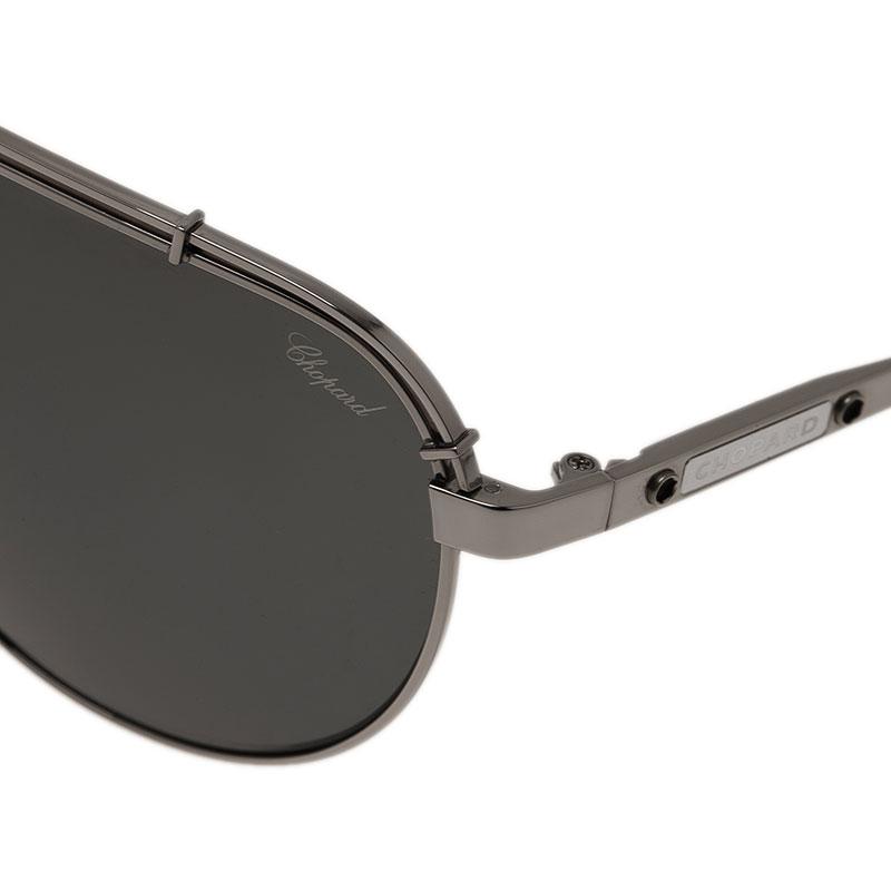 Chopard Grey and Black SCHA12M Aviators