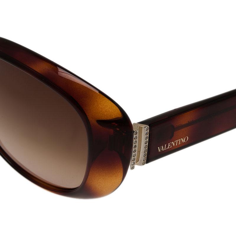 Valentino Tortoise Frame V620SR Oval Sunglasses