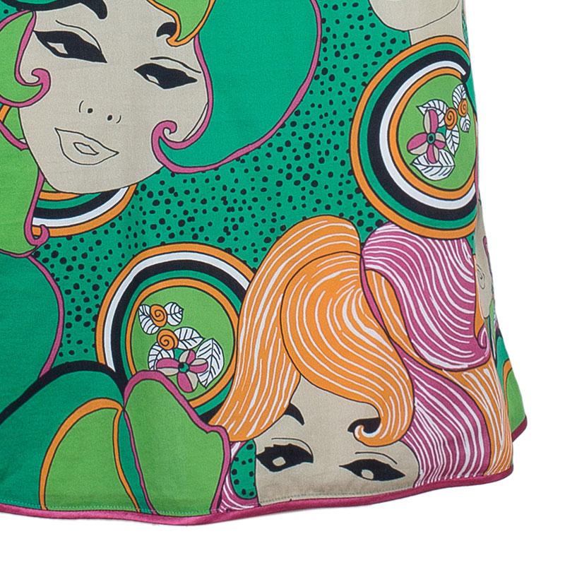 Philosophy di Alberta Ferretti Face Print Dress M