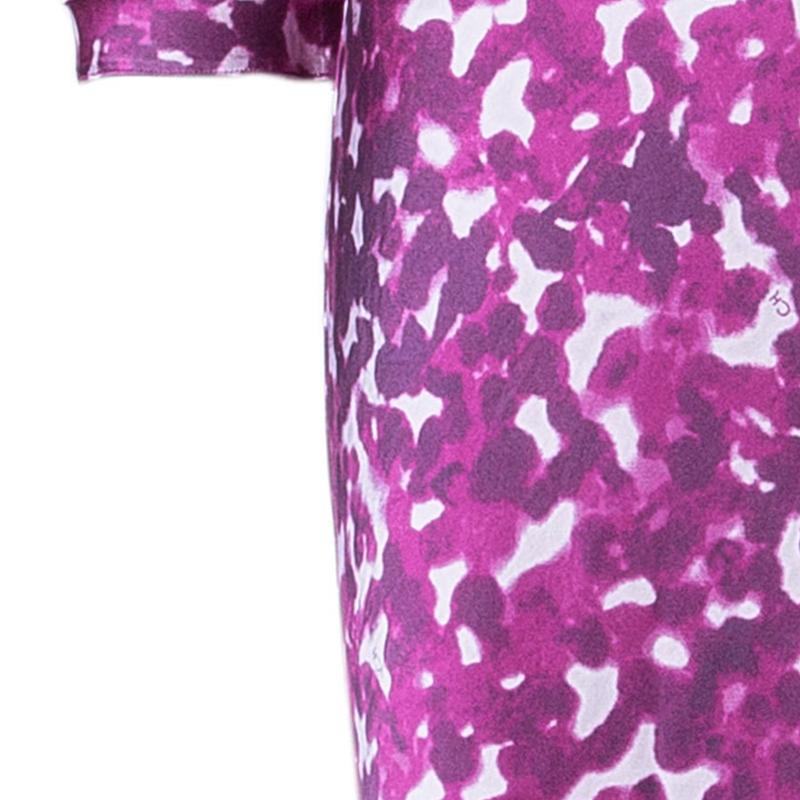 CH Carolina Herrera Printed Long Sleeve Maxi Dress M