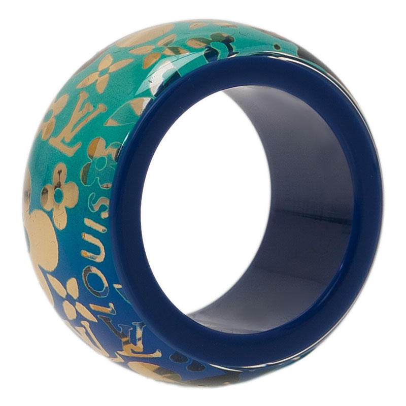 Louis Vuitton Inclusion Tropical Inclusion Resin Band Ring Size 52