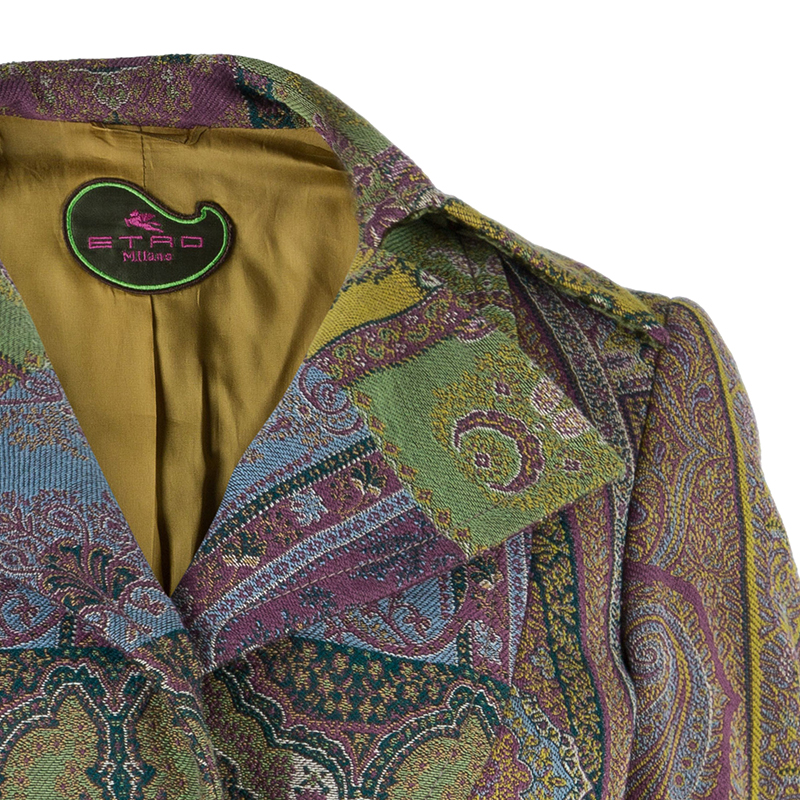 Etro Multi-print Fitted Blazer S