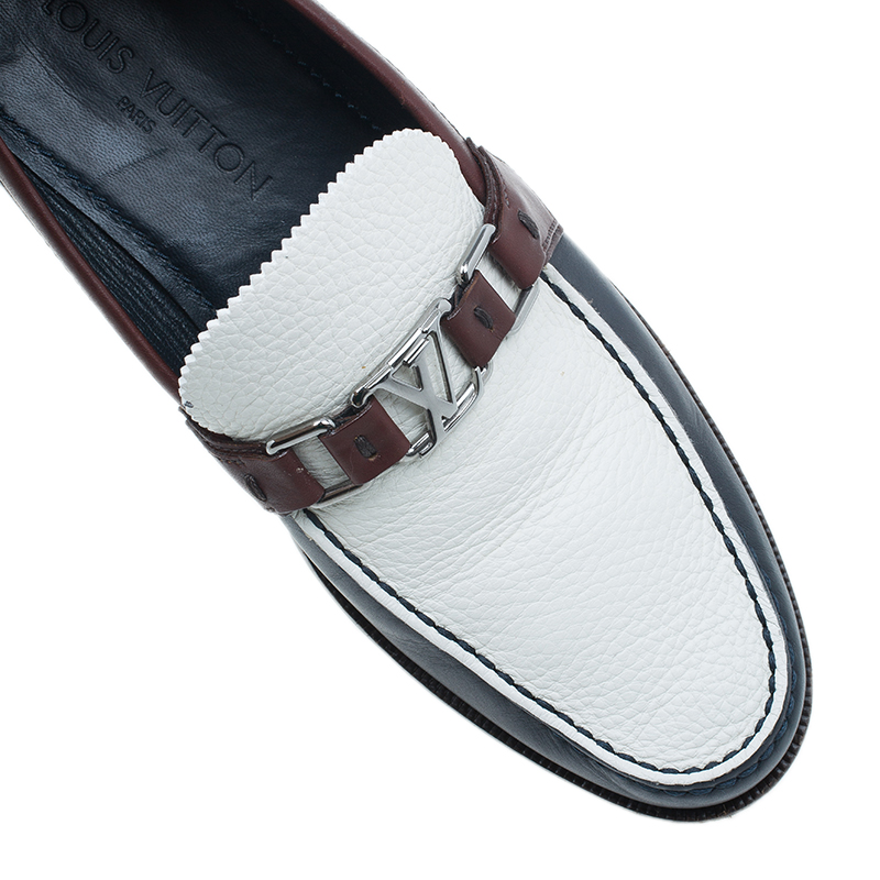 Louis Vuitton Tri Color Leather Major Loafers Size 42.5