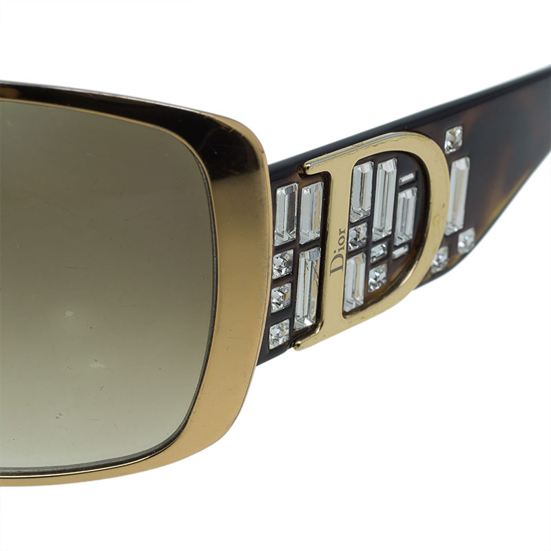 Dior Tortoise Frame Indinight 1 Shield Sunglasses