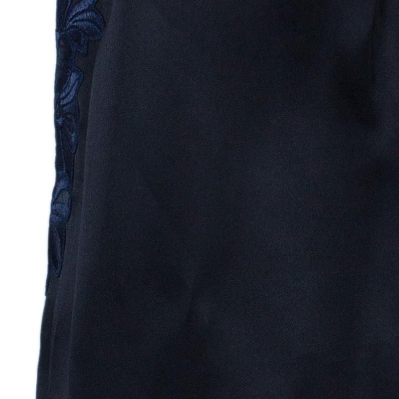 3.1 Phillip Lim Black Organza Giupure Lace Detail Blouse M