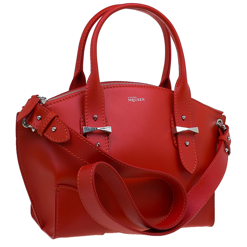 Alexander McQueen Red Leather Small Legend Tote bag