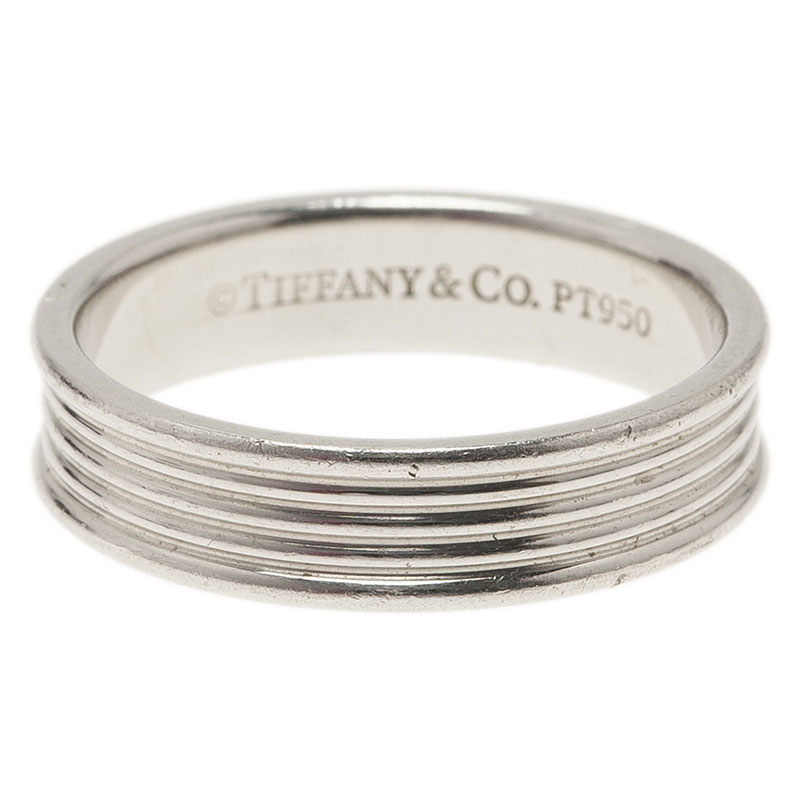 Tiffany & Co. Five Row Men Platinum Wedding Band Size 59