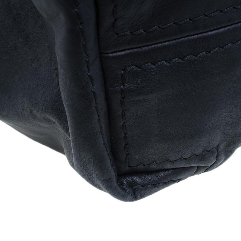 Jimmy Choo Black Leather XL Saba Hobo