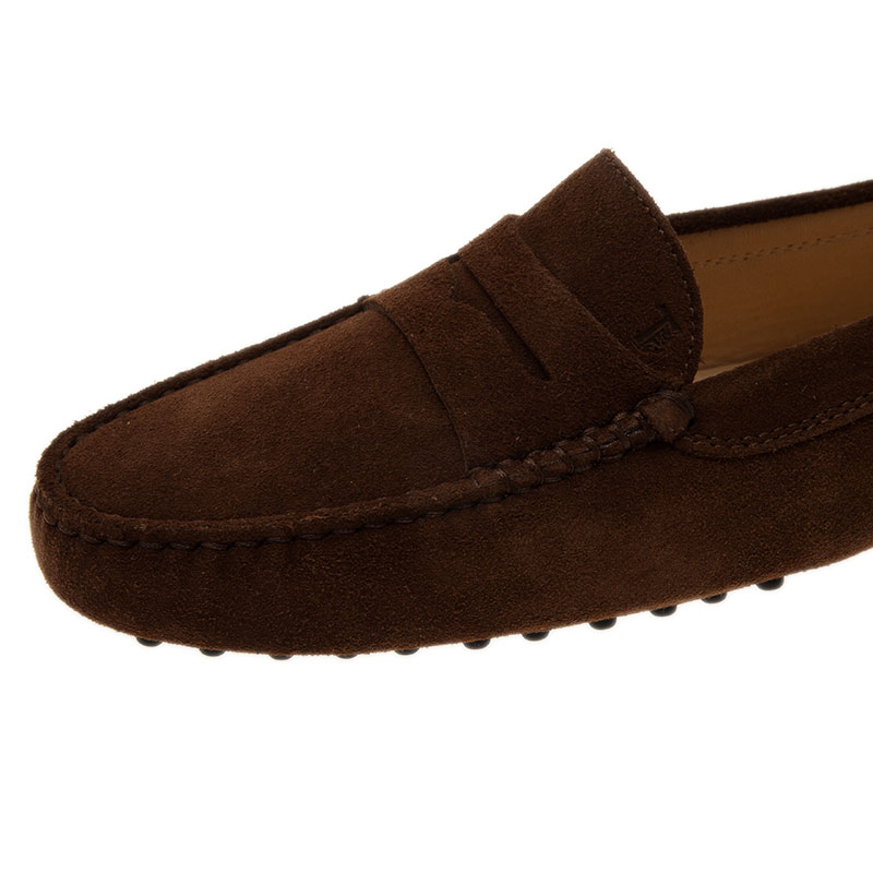 Tod's Brown Suede Penny Loafers Size 39.5