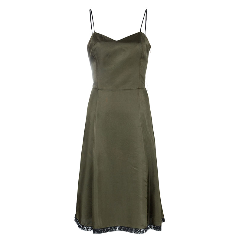 Prada Olive Green Sleeveless Dress M
