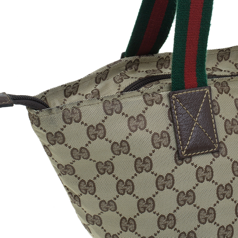 Gucci Beige GG Canvas Tote Bag