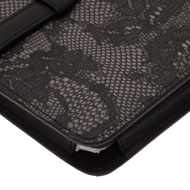 Valentino Grey Lace Embossed Leather iPad Case