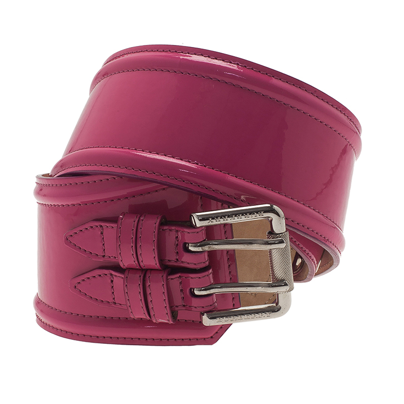 Burberry Prorsum Pink Patent Leather Corset Belt 80CM