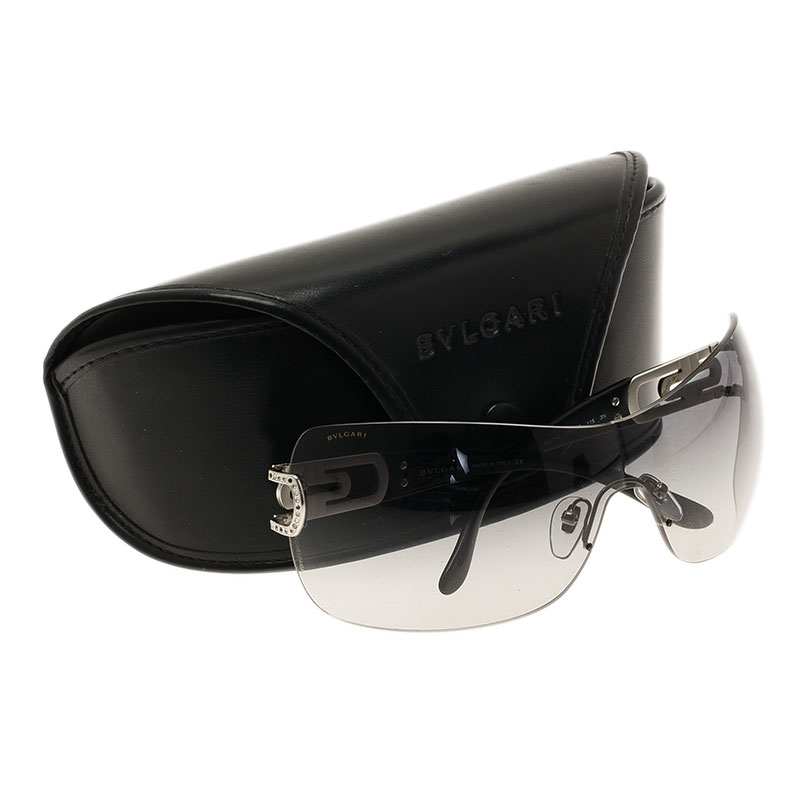 Bvlgari Black 6023B Strass Edge Shield Sunglasses